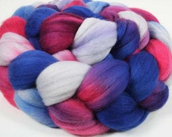 PATRIOTS - Merino wool roving,  4.0 oz