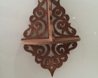 Vintage Wooden Shelf Carved By Gatormom13