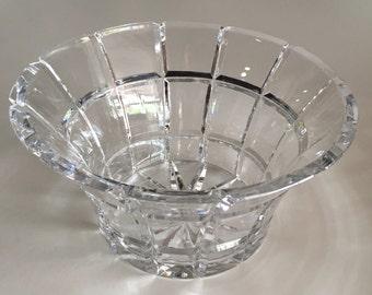 Crystal Bowl/ Cut Crystal Bowl/Ceskci Crystal Bowl/ Made in Poland/ Decorative Bowl/By Gatormom13