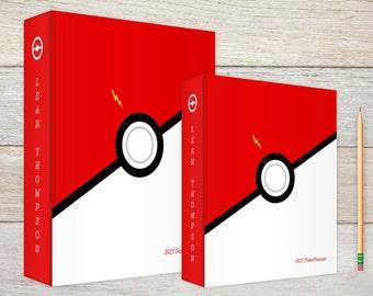 3-Ring Binder Red & White Ball