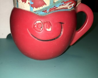 vintage 1969 the Pillsbury Co funny face drink mix promo cup choo choo cherry