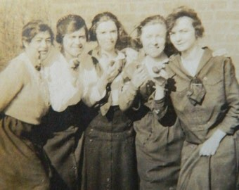 Party Girls 1900s, Original Photo, Collectible, Vintage, Photography, Snapshot