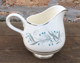 CREAMER - CELESTE china by Homer Laughlin -  creamer - made in america