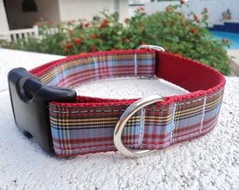 "Dog Collar Anderson Tartan 1"" wide Side Release buckle collar -  martingale is cost upgrade"