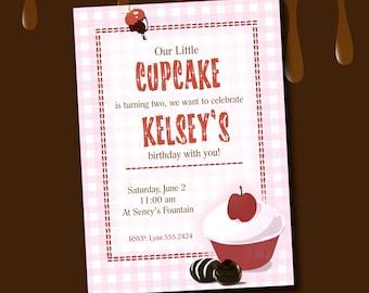 Sweet Cupcake Invitation *Digital Download*