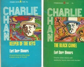 CHARLIE CHAN 2 Vintage Paperbacks, Keeper of the Keys and Black Camel by Earl Der Biggers 1969 Pyramid Books