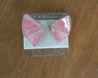 Vintage 1970 Pink Earrings