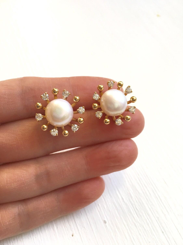 Image result for pearl earrings stud