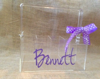 Personalized Acrylic Organizer - Clear Utensil Holder