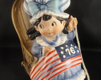 Betsy Ross Sitting in Rocking Chair - Musical Plays Yankee Doodle and Chair Rocks by Fred Roberts