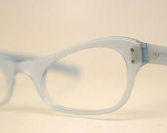 Small Blue cat eye eyeglasses  vintage cat eye glasses frames Cateye frames
