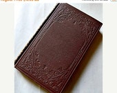 Antique Book - Vicar of Wakefield - Embossed book Victorian Covers