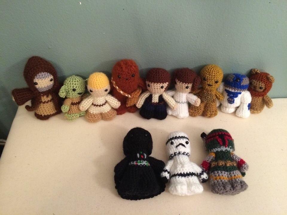Amigurumi Sushi Pattern Free : Star Wars Amigurumi Toys by NeshamaHandmadeGoods on Etsy