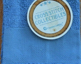 Blue Facecloth - Charlescraft Cross Stitch Collectibles