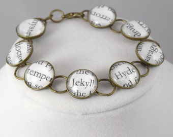 Dr Jekyll and Mr Hyde Bracelet, Classic Gothic Novel Literary Jewelry