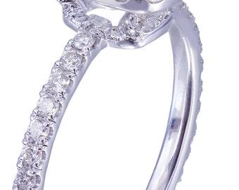 18k white gold cushion cut diamond engagement ring halo 2.10ctw I-VS2 EGL US