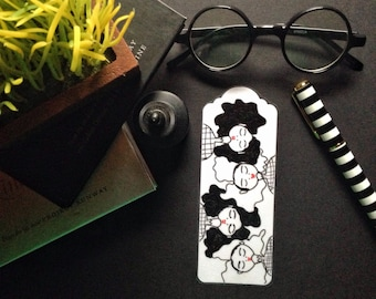 Black and White Afros- Bookmark, African American Art, Unique Bookmark, Booklovers gift, Literary bookmark, Afro art by LeMahogany Art