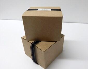 "20 - 4x4x3"" Kraft Gift Boxes"