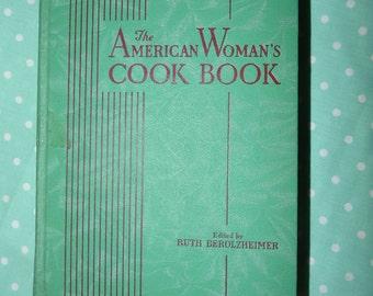 Cookbook Antique WWII Era American Women's Cookbook-Hardcover Must for Collector's