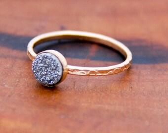 Druzy Ring, Gold Stacking Rings,Druzy Stone Stacking Rings, Modern Jewelry, BOHO, Trending,Druzy Ring Silver, Gold Ring, Statement Rings