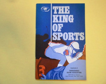 The King of Sports, Vintage Booklet of the Thoroughbred Racing Associations