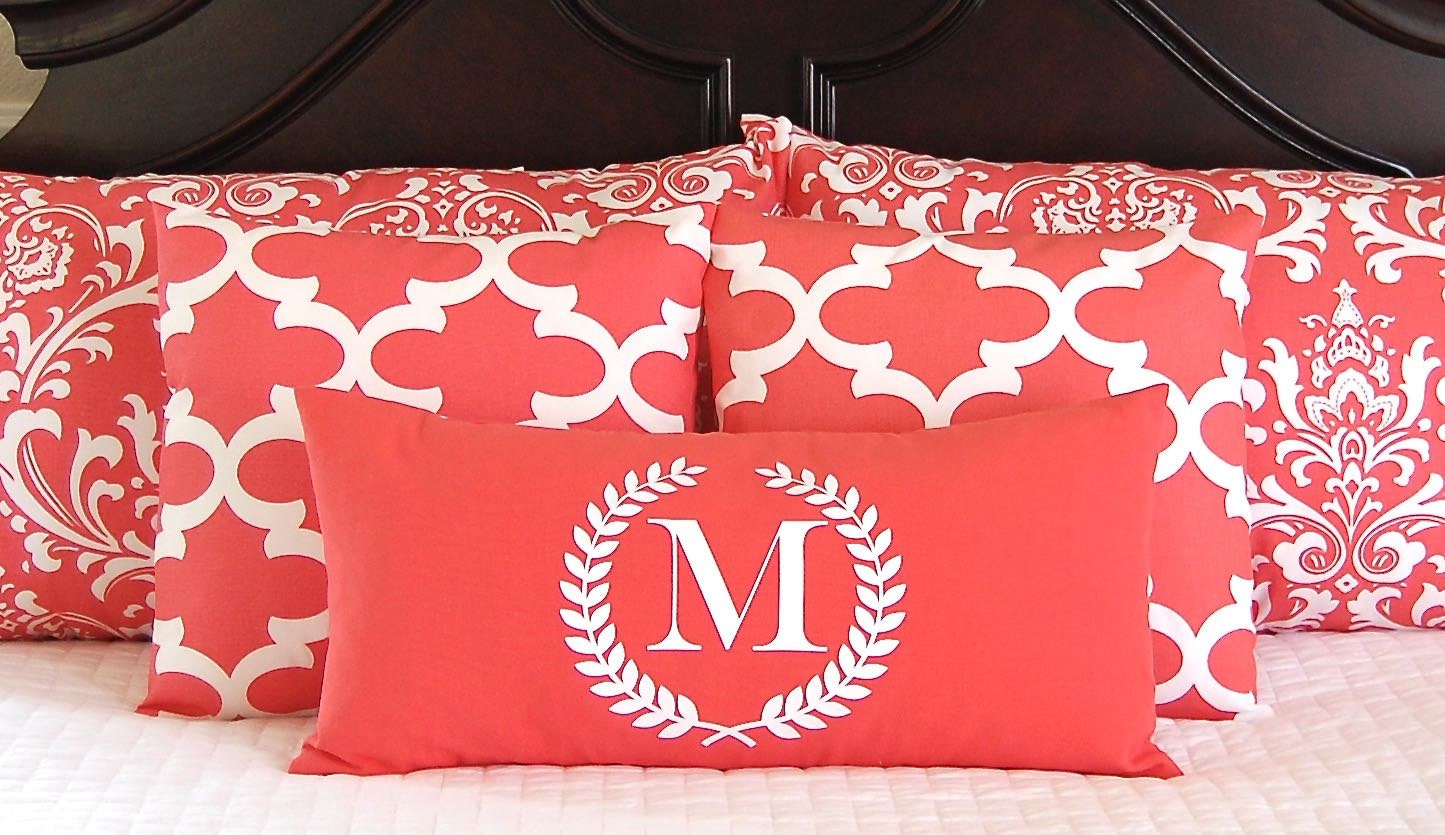 Pillow Shams Decorative Pillow Covers Coral Bedding