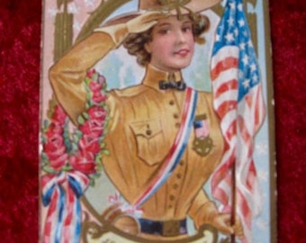 A Daughter Of The Regiment Memorial Day Original Vintage Postcard 1909 Memorial Day