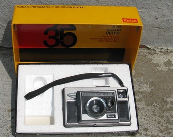 vintage kodak instamatic x 35 camera 1970s electronics with box