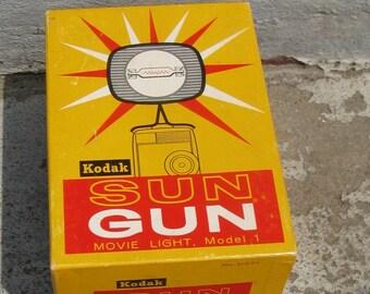 vintage kodak sun gun movie light model 1 original box