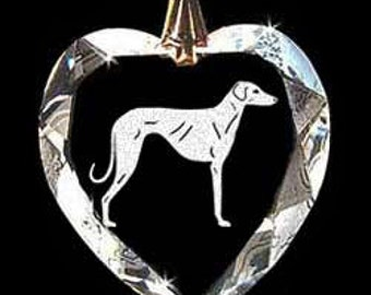 Sloughi-UKC Breed Dog Jewelry Custom Crystal Necklace Pendant, Suncatcher made with any Animal or Name YOU Want, Gift , Dog Lover, Handler