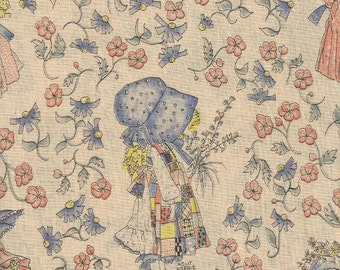 Vintage Holly Hobbie Fabric 1 yard