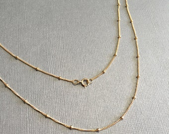 Gold Satellite Necklace, Gold Filled Necklace, Gold Filled Satellite Chain Necklace, Layered Necklace, Delicate Minimal Jewelry, NgocJewelry