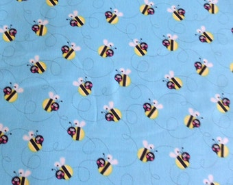 Bee Fabric Bumble Bee Cotton Fabric Buzzing Bees Studio E