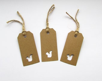 10 Squirrel Gift Tags, Gifts, Wedding, Presents, Natural, Special, Handmade, Free postage to UK