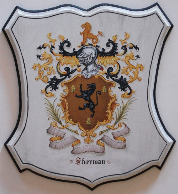Family Crest Shields Coat Of Arms Wooden Plaques Old World