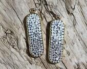 Micromosaic Earrings in Brass Bezels