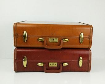Samsonite Streamlite suitcases, vintage luggage