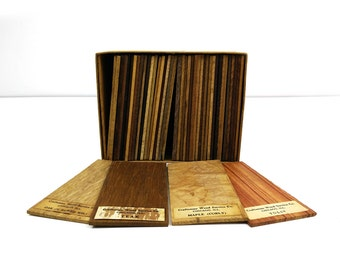 Craftsman Wood Service Co Wood Sample Set / 1943 Hunts Catalog for Woodworkers