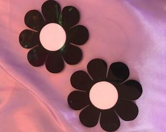 Flower power earrings (ready to ship)