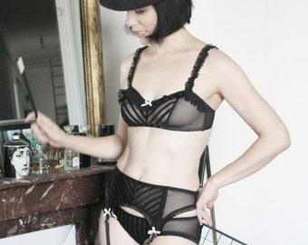 Sheer Mesh low rise knickers panty brief underwear La Valtesse  by Love Me Sugar