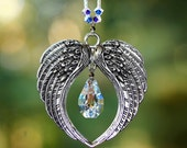 "Angel Wings m/w Swarovski Crystal RARE VINTAGE KITE #8751 Pendant Car Charm SunCatcher Ornament Includes a ""Made with Swarovski Crystal"" Tag"