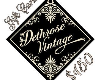 Dethrose Vintage Gift Card 150