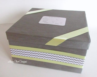 Baby Keepsake Box, Baby Shower Box, Baby Memory Box, Baby Gift, Christening gift - Custom Made