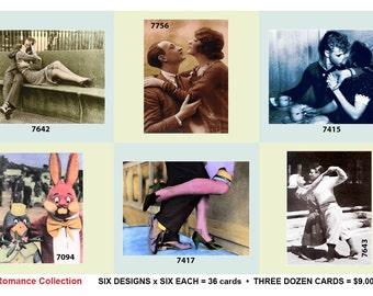 1003:Romance Retro Postcard Collection - 6 designs, 6 each = 36 postcards