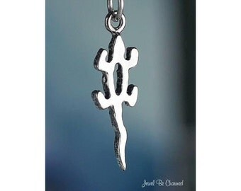 Lizard Charm Sterling Silver Native American Indian Petroglyph .925