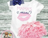 ON SALE Baby Girl clothes Mama's Mini bodysuit baby shirt sparkly baby shirt Newborn baby Baby Gift Glitter Shirt Sparkle Shirt