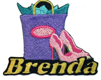 Iron on Patch Shoe Shopping Name Personalized Free