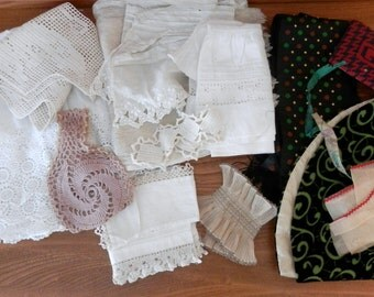 Vintage Trims and Lace - Set of assorted pieces of trim and Lace  - English Lace