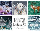 WINTER WONDERS Cards   5 Pack