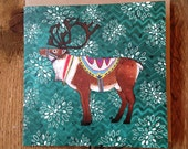Reuben Reindeer | Square Blank Greeting / Christmas Card
